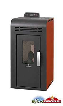 "bronpi – Estufa de pellets 8 kW Mod.""Alba Color Copper"