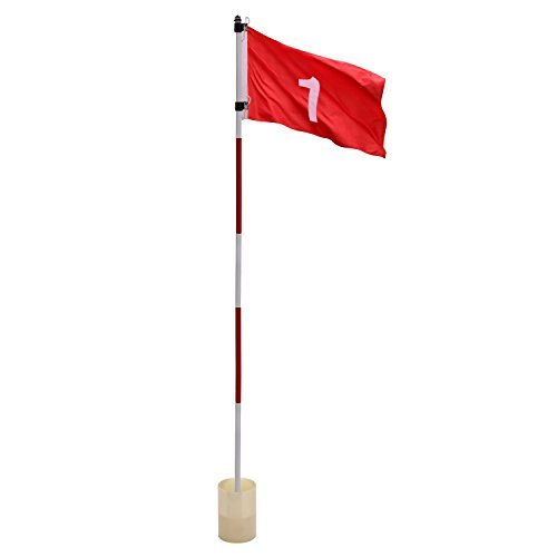 Flags Golf Green - Kingtop Backyard Practice Golf Hole Pole Cup Flag Stick, Golf Putting Green Flagstick