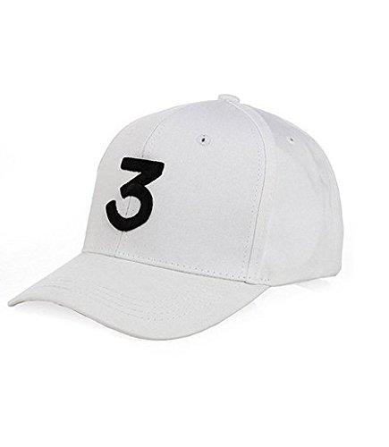 IVYRISE Embroider Chance Baseball Caps Hats Cool Baseball Rapper Number 3 Caps, Rock Hip Hop Classic Casquette with Adjustable Strap, Cotton Sunbonnet Plain Hat