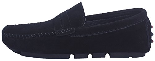 AgeeMi Shoes Herren Blend-Materialien Rein Niedriger Absatz Suede Schuhe Schwarz