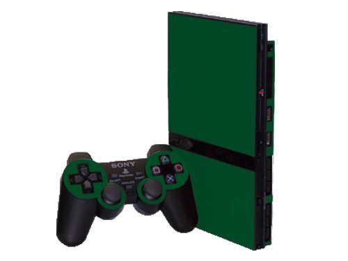 (Sony PlayStation 2 Slim (PS2 Slim) Skin - NEW - FOREST GREEN system skins faceplate decal mod )