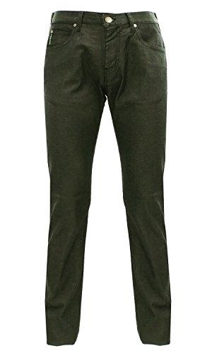 ARMANI JEANS Men's Slim Fit Straight Leg Jeans, Black, (Armani Straight Leg Jeans)