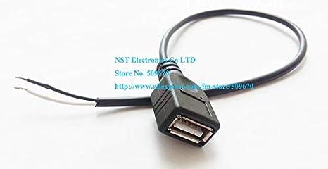 Gimax 200pcs SMT Full Copper USB 3.0 Single layer Socket Crimping Patch USB Female Jack Connector