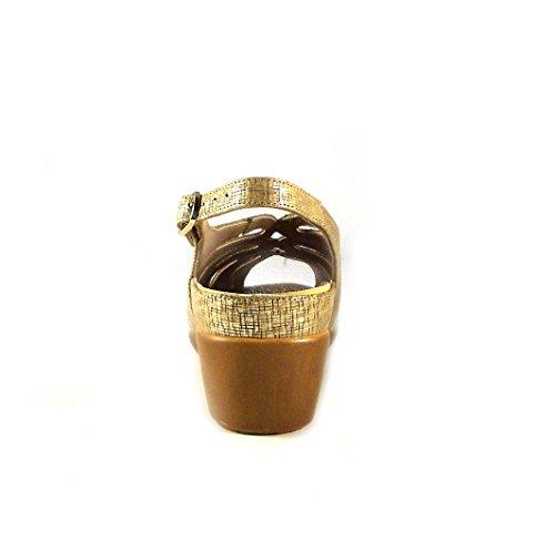 PieSanto 180154, Sandalias con Punta Abierta Para Mujer Beige (Camel)
