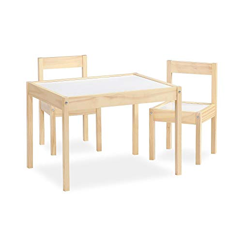 Save on Baby Relax Hunter 3-Piece Kiddy Table & Chair, Natural/White Table Set and more