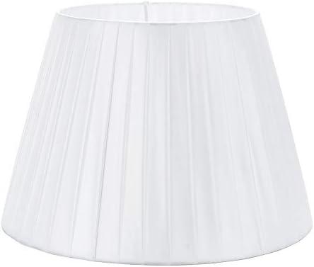 DULEE 14 E27/E14 Screw Tela Pantalla de Lámpara de Pie Mesa y Lámpara de Noche,(Top)22cm x (Altura)25cm x (Fondo)36cm,Blanco: Amazon.es: Iluminación