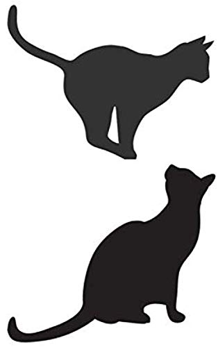 Cat Sitting and Bouncing Silhouette Animal Home Decoration Detachable DIY Applique Art Mural Wall Decals Decor Vinyl Sticker Q12164