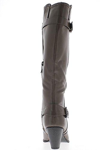 Mujer botas Mole en 7cm Ver talón occidental