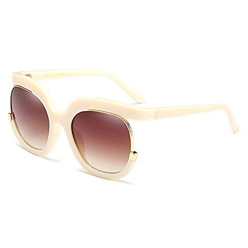 E de Hombres Moda cuadradas Burenqi Nuevo Gafas Gafas de Grande Degradado Sol Diseño de C Marca Bastidor de UV400 Sol Gafas Unisex Mujeres FSxBgBX