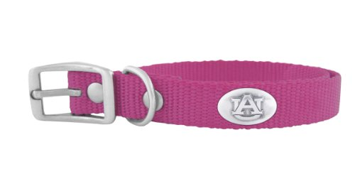 Auburn Tigers Nylon Pet Collar - ZEP-PRO Pink Nylon Concho Pet Collar, Auburn Tigers, Large