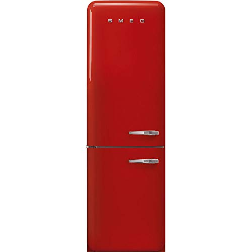 Smeg-FAB32ULRD3-50s-Retro-Style-Aesthetic-24-50S-Style-Refrigerator-With-Automatic-Freezer-Red-Left-Hand-Hinge