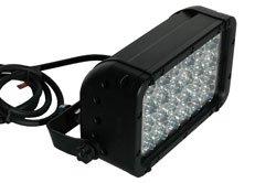 72 Watt LED Light Emitter - Adjustable Trunnion Bracket Mount - 120-277V AC - 4320 Lumens(-Black-Flo
