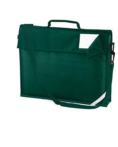 Quadra Kids Junior libro bolsa con correa para el hombro niños escuela bolsa un tamaño verde oscuro