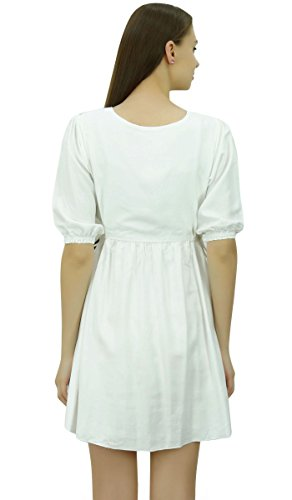 Chic Bimba Tunic With Dress Designer White Drawstring Women Short Waist Summer At r50fxrqB