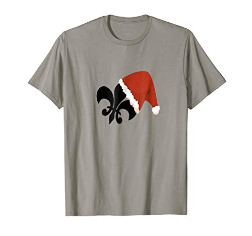Christmas Fleur De Lis Cajun Louisiana New Orleans Tee Shirt