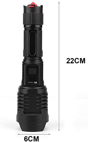 Pbzydu Flashlight, Easy Use Zoom Flashlight, Rechargeable Portable Flashlight for Outdoor Mountain Climbing