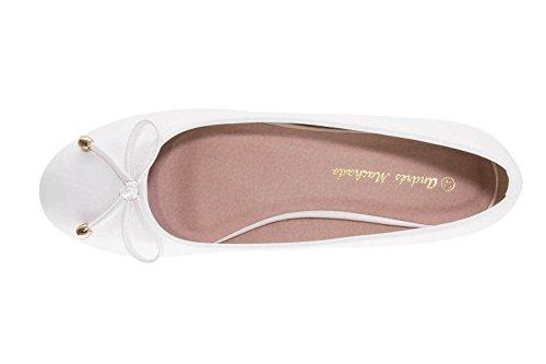 Andres Machado Women's Ballet Flats Beige Soft Crema sRz8ttdD6