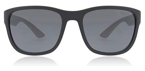 Prada Sport PS01US UFK5L0 Grey Rubber PS01US Square Sunglasses Lens Category ()