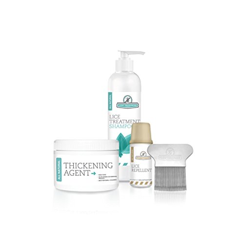 Lice Troopers Single Person Lice Treatment Kit - Includes Lice Treatment Shampoo, Repellent, Comb, Thickening Agent