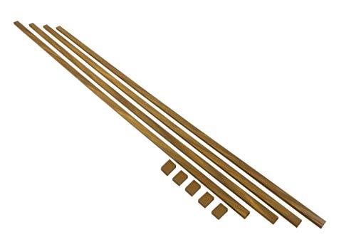 FAMATEL Cable de 10 pies para Maletero con Kit de adhisive de 0,63 x 0,98 cm, Organizador de Cuerda, Aspecto de Madera café