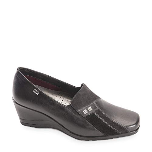 Mocassin Noir Femme En Cuir Valleverde Chaussures O Td hiver Moro 16141 Automne 2019 pqO5Cf6