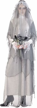 Paper Magic Lady Nightshade The Ghost Bride Costume, Gray/White, Medium
