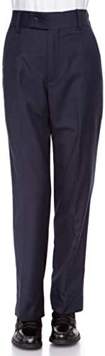 RGM Boys Dress Pants Flat-Front - Slim fit Dress Slacks