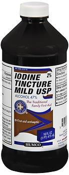 Humco Mild Iodine Tincture USP - 16 oz, Pack of 6