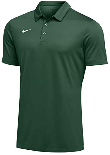 (Nike Mens Dri-FIT Short Sleeve Polo Shirt (Large, Green))