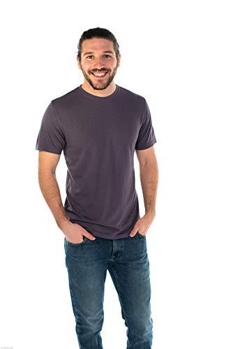 (ONNO Men's Hemp T-Shirt L Dirty Purple)