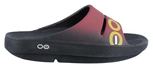 Sport Sandales De rouge Oofos Homme Ooahh Noir PqSxz6w6C