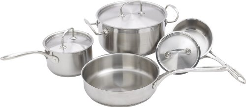 Winware 7pc Heavy Gauge Premium Stainless Steel Cookware Set