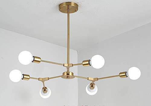 Moderno Sputnik lámparas de Latón Mid Century - Luz empotrable Techo ...
