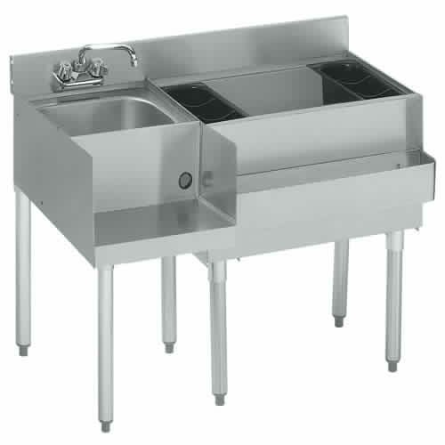 Krowne Metal 21-W42R 2100 Series Underbar Ice Bin/Cocktail & Blender Station 42