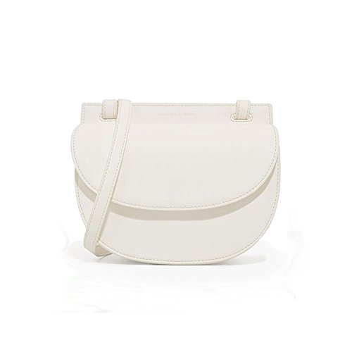 Charles & Keith PU Faux Leather Half Moon Crossbody Bag Saddle Color White
