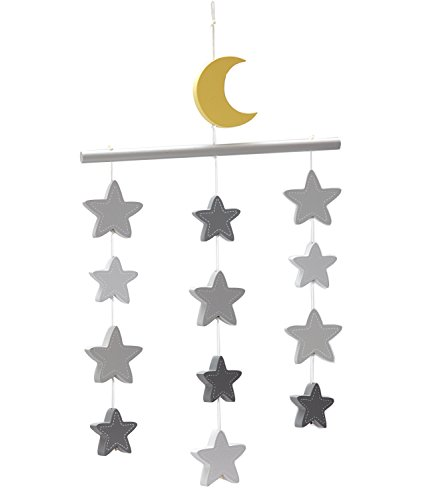Little Love by NoJo Gray Stars Ceiling (Hanging Ceiling Decor)