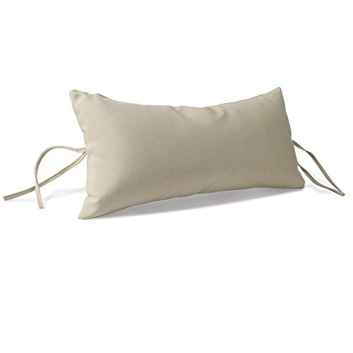 Pillow with Ties, Outdoor Hanging Pillow, Weather Resistant, Beige ()