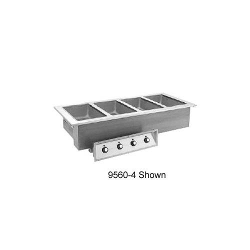 Drop In Unit 3 Pan (Randell 9560-3AWF Drop-In Electric Hot Food Unit with (3) 12