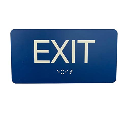 ADA Compliant Exit Sign with Braille (6' x 3')