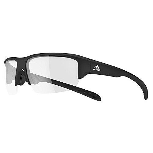 adidas Kumacross Halfrim Non-Polarized Iridium Rectangular Sunglasses, Black Matte, 64 mm