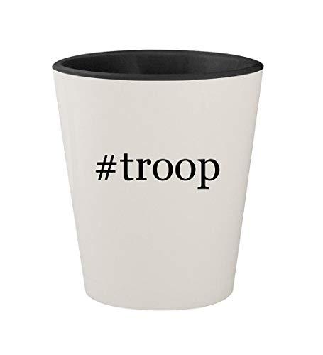 #troop - Ceramic Hashtag White Outer & Black Inner 1.5oz Shot (Star Wars Series 1 Sticker)