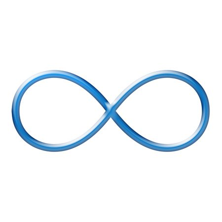 Image result for blue infinity sign