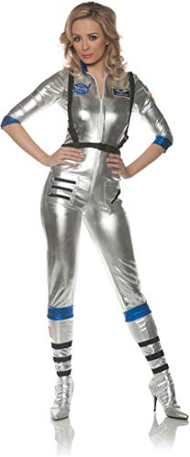Underwraps Women's Sexy Astronaut Costume-Orbit, Silver, X-Large ()