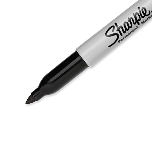Sharpie Permanent Markers Fine Point Black 12 Count