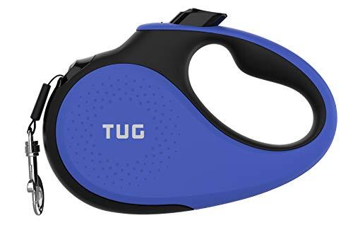 correa retractil para pasear perros TUG 360° azul medium