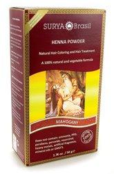 Surya Brasil Henna Powder Hair Coloring Mahogany 1 (Surya Henna Powder)