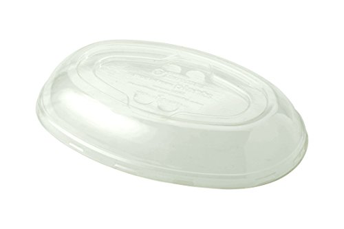 (World Centric BOL-CS-UBB 100% Compostable Ingeo Clear Plastic Burrito Bowl Lids, for 32 oz. Bowls (Pack of 300))