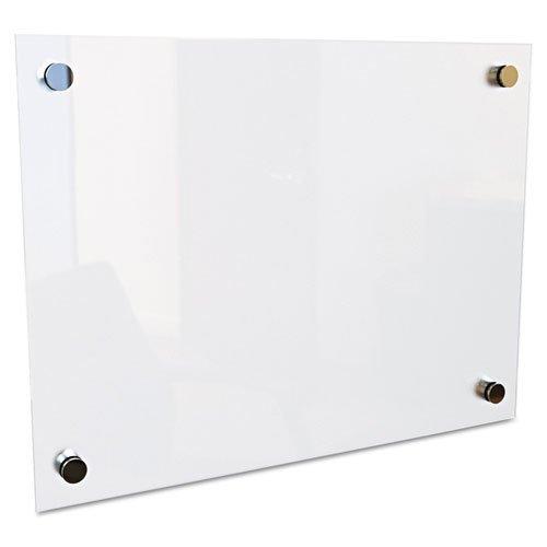 Best-Rite - Enlighten Glass Board, Frameless, Frosted Pearl, 24 x 18 x 1/8 83949 (DMi EA by (Best Rite Enlighten Glass)