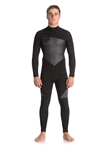 Quiksilver Mens 4/3Mm Syncro Series Back Zip Gbs - Full Wetsuit Back Zip Gbs Wetsuit Black - Mt Wetsuit