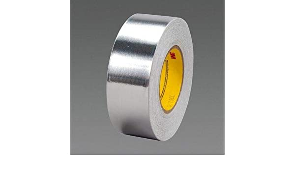 0.5 Length Converted from 3M 1170 Pack of 5 0.5 Width Squares TapeCase Silver Aluminum Foil Tape with Conductive Acrylic Adhesive